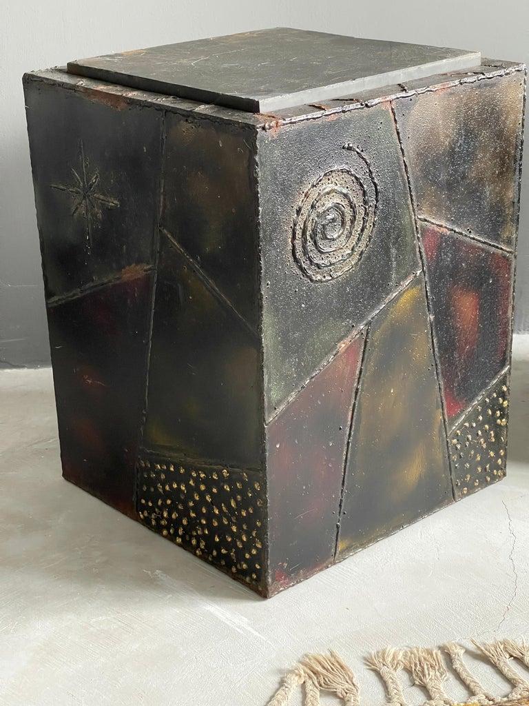 Paul Evans, Side Tables, Steel, Slate, Artists Studio for Directional, 1971 For Sale 2