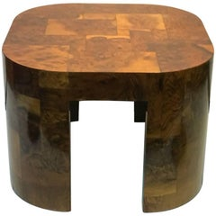 Paul Evans Signed Patch Work Burl Wood Coffee Table