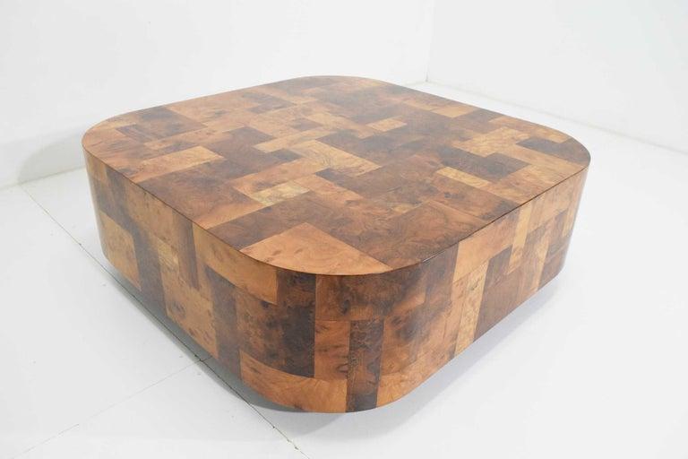 Paul Evans Signed Patchwork Cityscape Burl Wood Cocktail Table For Sale 3