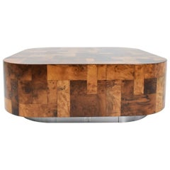 Paul Evans Signed Patchwork Cityscape Burl Wood Cocktail Table