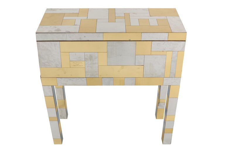 Late 20th Century Paul Evans Studio for Directional Cityscape Sample Chest, USA, 1970 For Sale