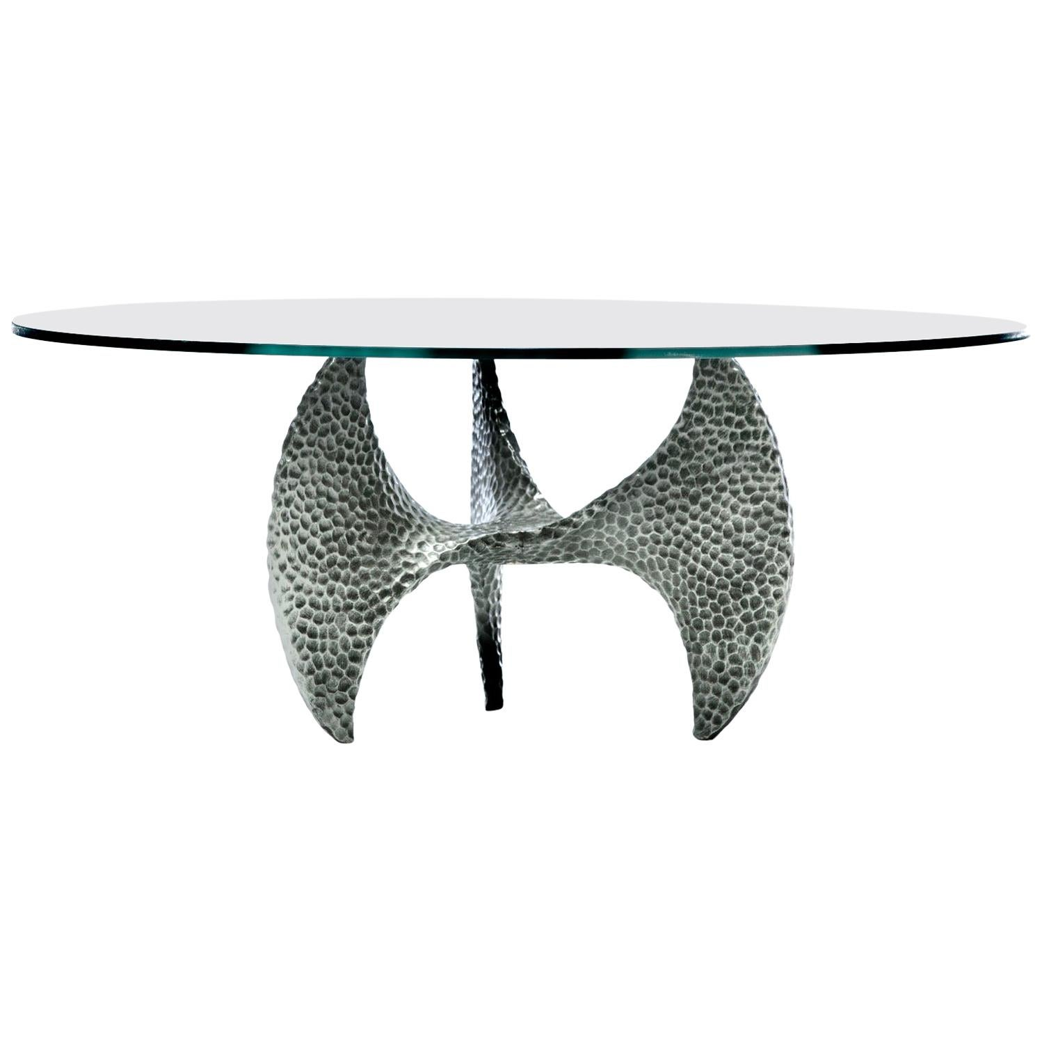 Paul Evans Style Brutalist Propeller Base Coffee Table Stamped, 1970