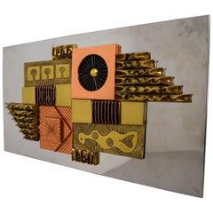 Paul Evans Style Brutalist Wall Sculpture nr: 15