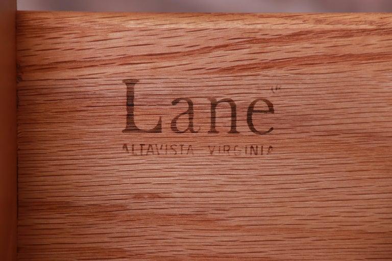 Paul Evans Style Lane Pueblo Brutalist Mid-Century Modern Oak Armoire Dresser For Sale 9