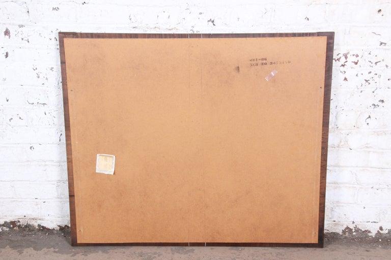 Paul Evans Style Mid-Century Modern Brutalist Walnut Double Mirror by Lane For Sale 4