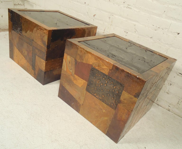 Mid-Century Modern Paul Evans Style Patchwork Tables For Sale