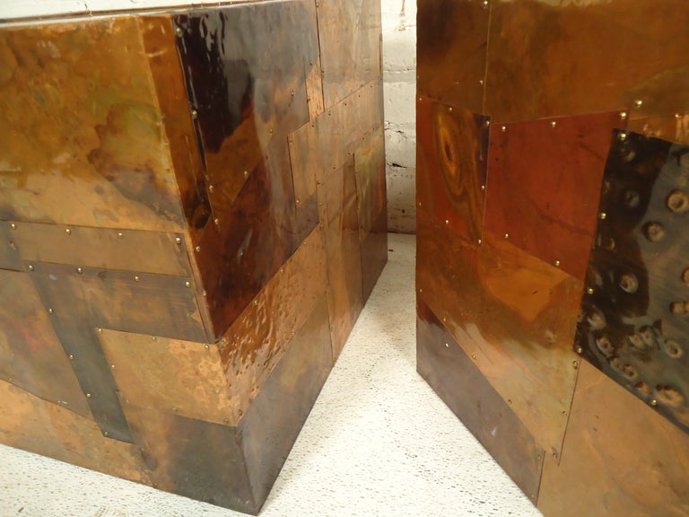 Paul Evans Style Patchwork Tables For Sale 1