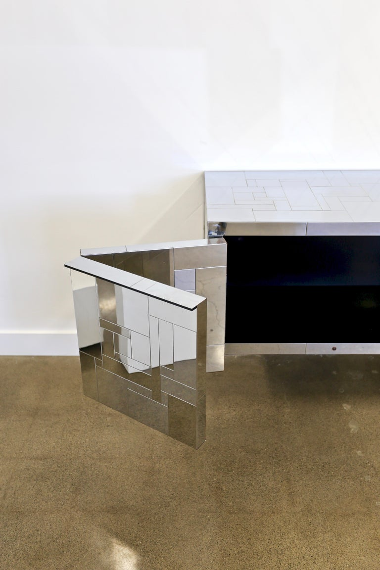 Paul Evans Wall-Mounted Cityscape Cabinet In Good Condition For Sale In Costa Mesa, CA