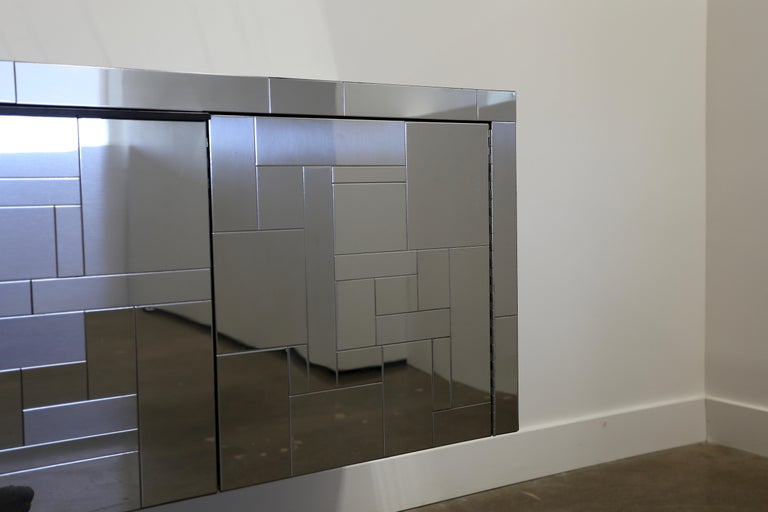 20th Century Paul Evans Wall-Mounted Cityscape Cabinet For Sale