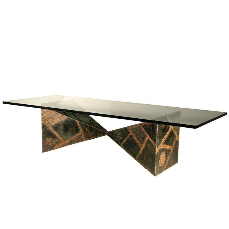 American Paul Evans Welded Coffee Table Signed For