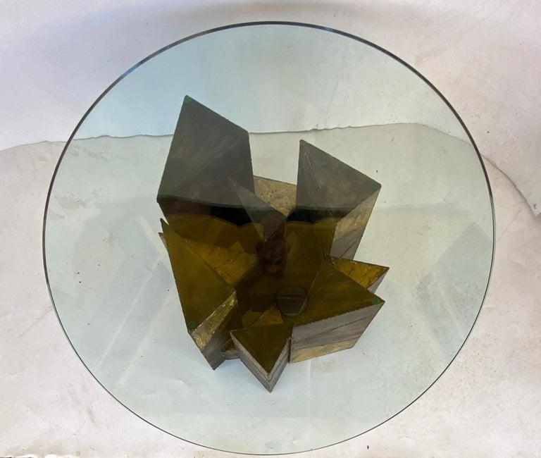 Paul Evans Welded Steel Brutalist Coffee Table Studio Made For Sale 1