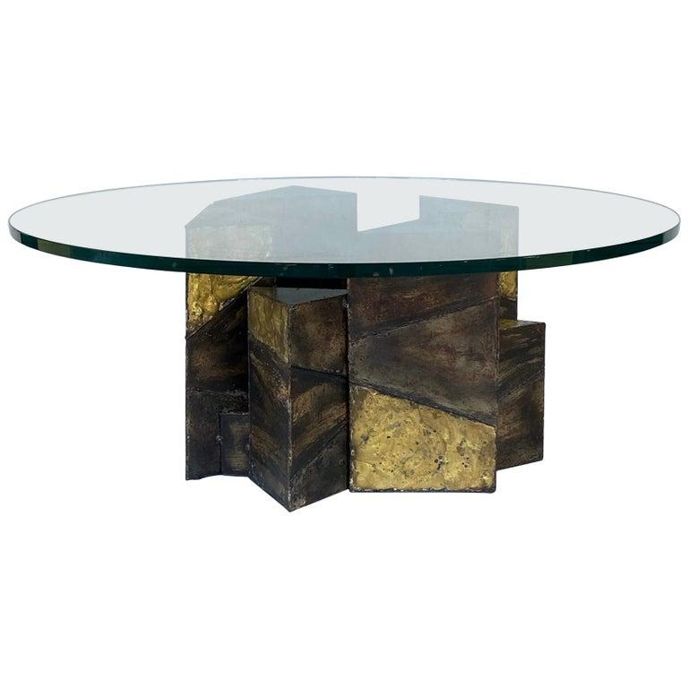 Paul Evans Welded Steel Brutalist Coffee Table Studio Made For Sale