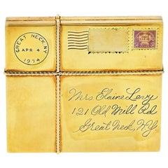 Paul Flato 1940s 14 Karat White Gold Vintage Face Mirror Compact Jewelry