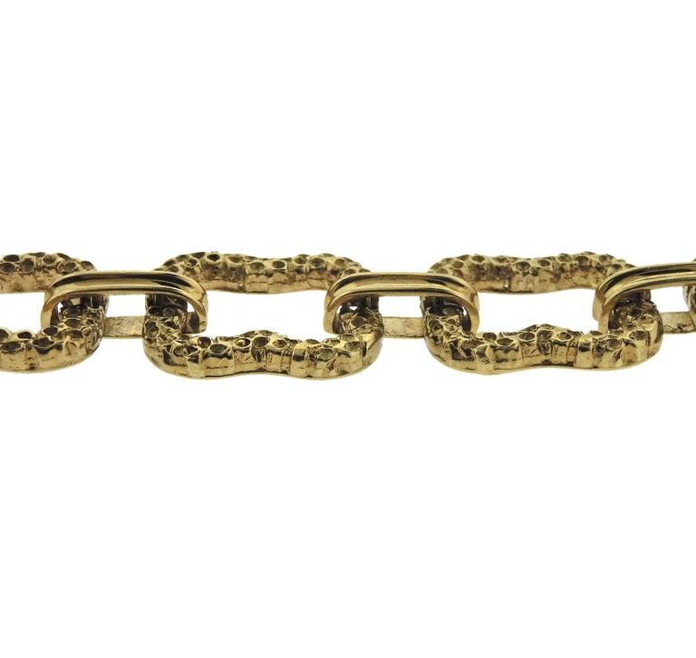 Women's Paul Flato 1970s Gold Long Link Necklace For Sale