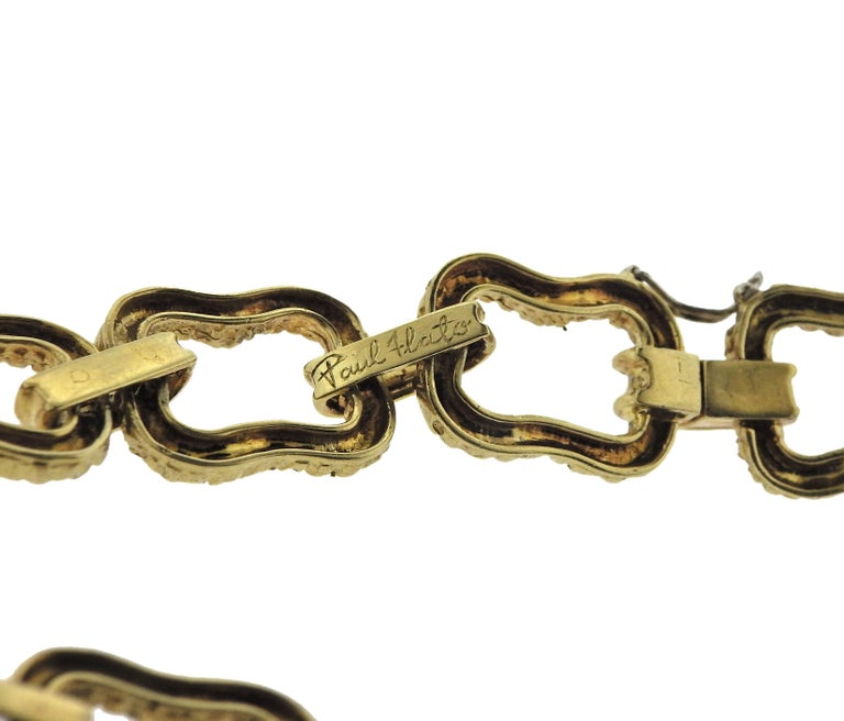 Paul Flato 1970s Gold Long Link Necklace For Sale 2