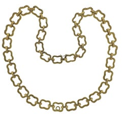 Paul Flato 1970s Gold Long Link Necklace