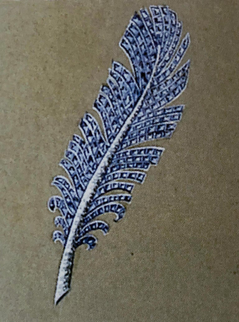 Paul Flato Sapphire and Diamond Feather Brooch, New York, circa 1940 In Excellent Condition For Sale In New York, NY