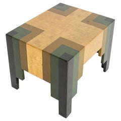 Paul Follot Japanned Wooden Occasional Table, France, 1929