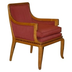 Paul Follot Pair of Inlaid Armchairs