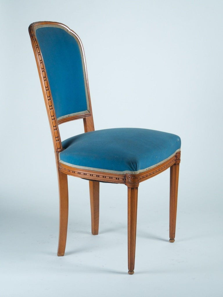 Art Deco Paul Follot Pair of Side Chairs For Sale