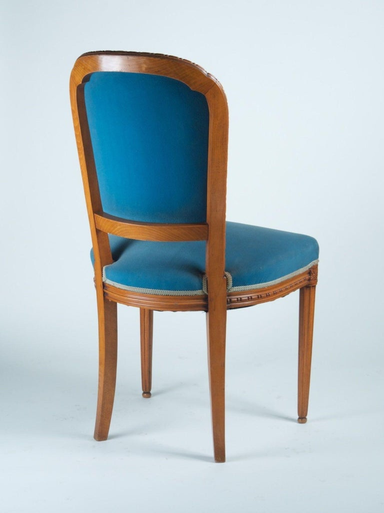 Early 20th Century Paul Follot Pair of Side Chairs For Sale