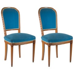 Paul Follot Pair of Side Chairs