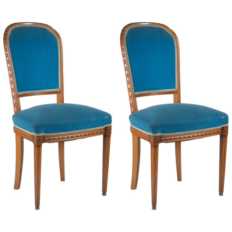 Paul Follot Pair of Side Chairs For Sale