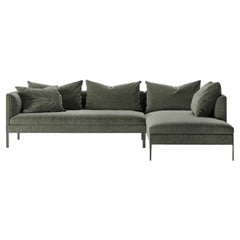 Molteni&C Paul Sofa Design Vincent Van Duysen Green Fabric