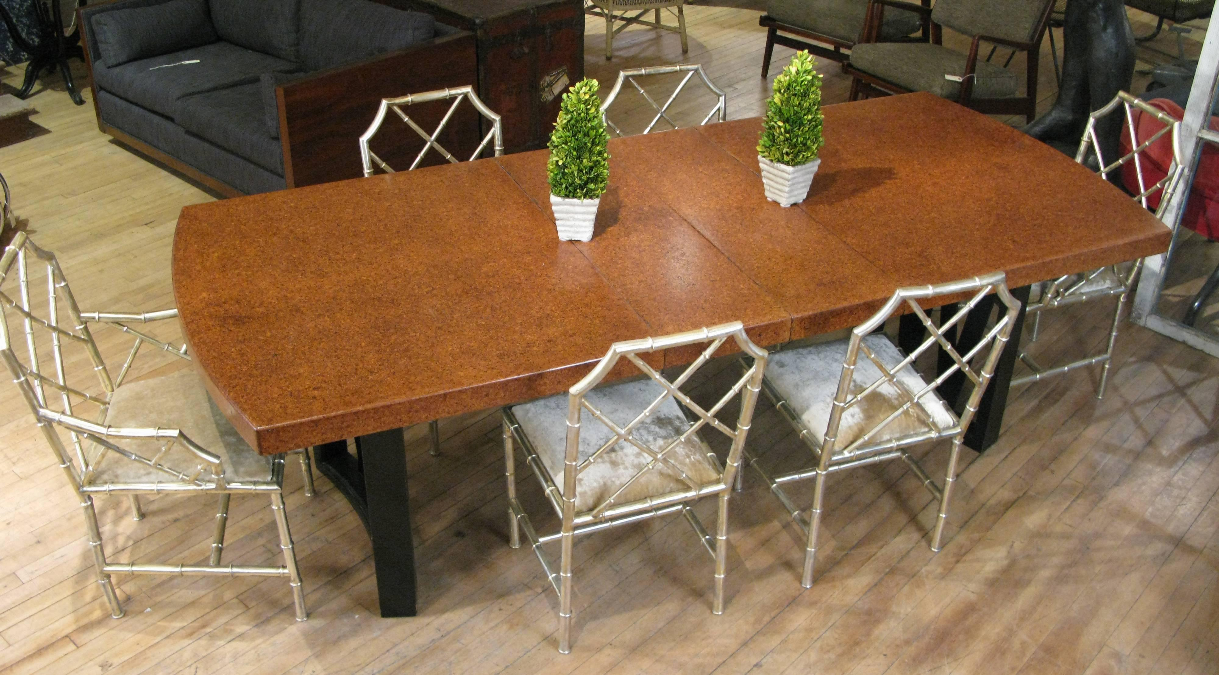 Paul Frankl 1940s Dining Table In Mahogany And Cork For Sale At 1stdibs