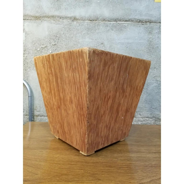 Mid-Century Modern Paul Frankl Attributed Waste Basket For Sale