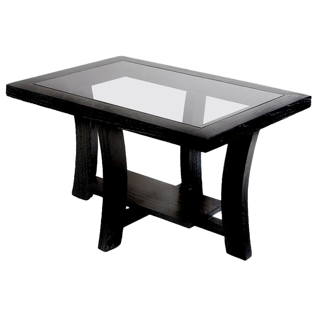Paul Frankl Black Stepped Side Table for Brown Saltman