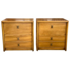 Paul Frankl Classic Nightstands with X Handles