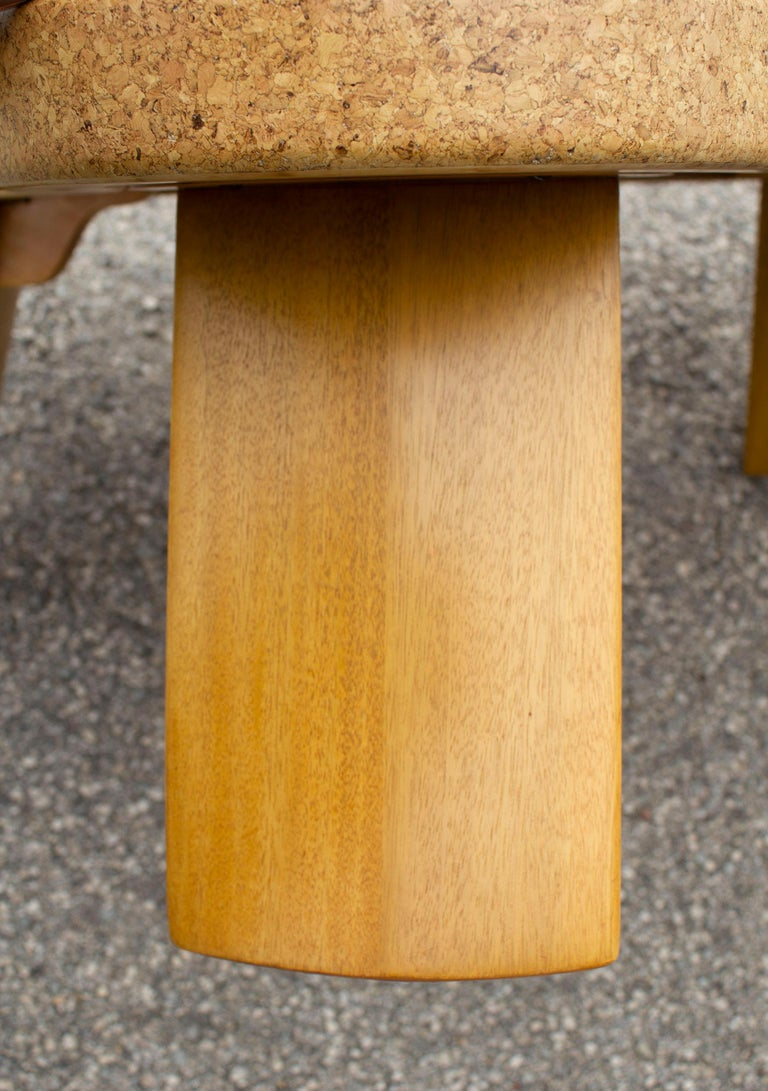 Paul Frankl Cloud Coffee Tables in Natural Cork and Bleached Mahogany -Pair 1951 For Sale 7