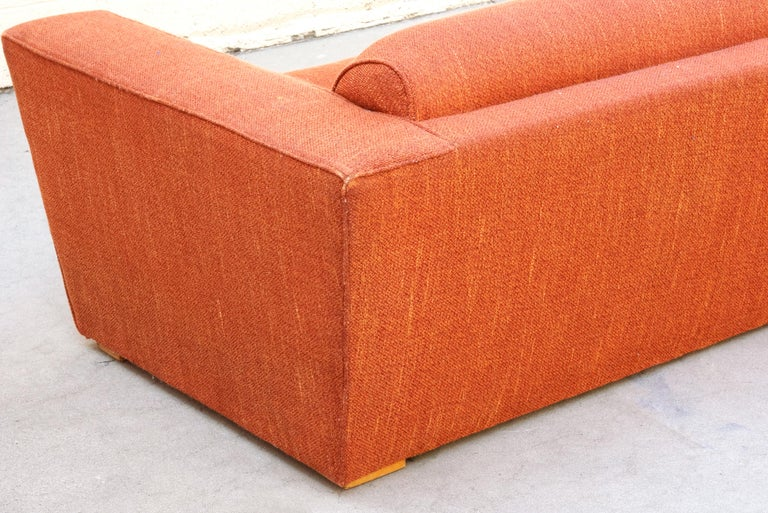 Paul Frankl Club Sofa, Original 1940s In Fair Condition For Sale In Alhambra, CA