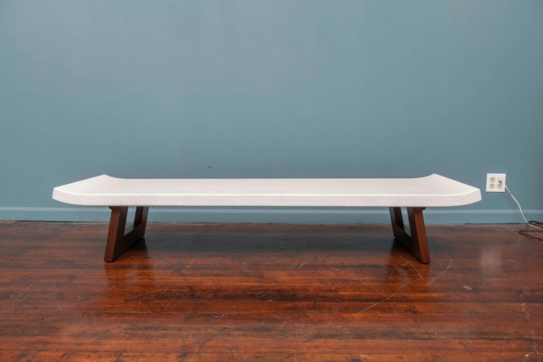 Mid-Century Modern Paul Frankl Coffee Cork Top Low Table or Bench For Sale