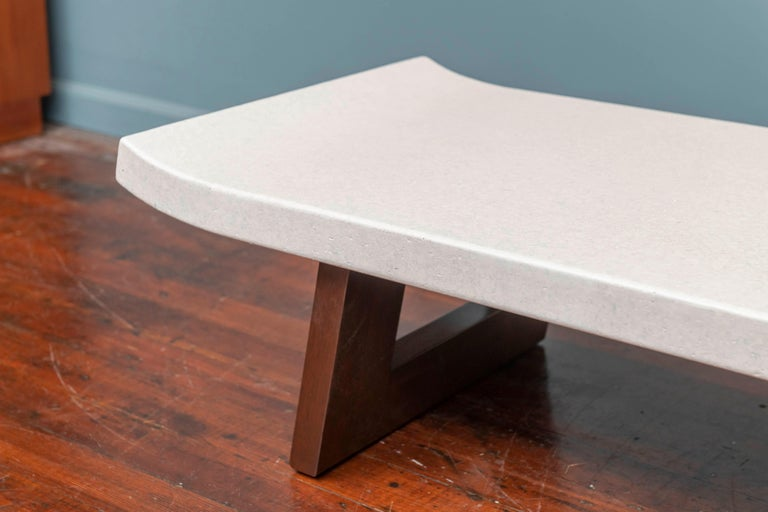 American Paul Frankl Coffee Cork Top Low Table or Bench For Sale
