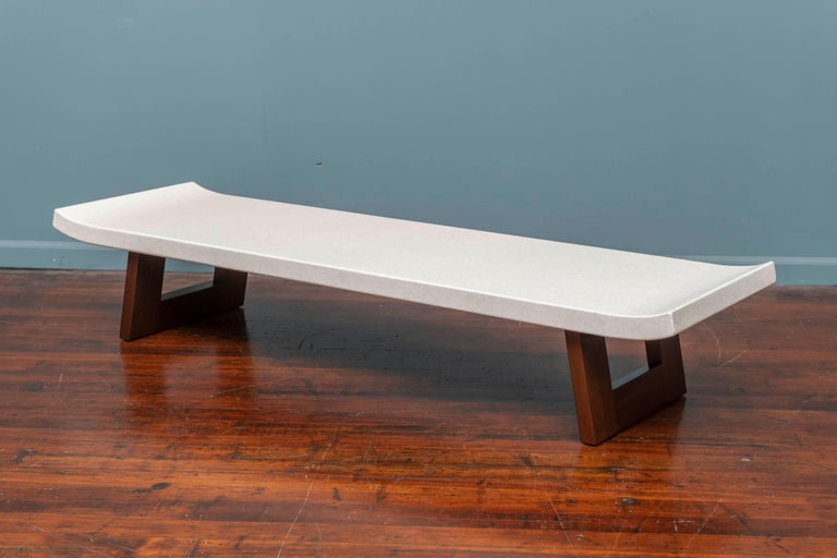 Paul Frankl Coffee Cork Top Low Table or Bench In Good Condition For Sale In San Francisco, CA