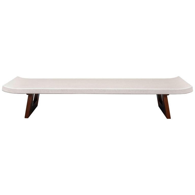 Paul Frankl Coffee Cork Top Low Table or Bench For Sale