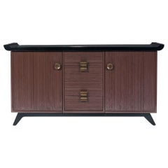 Paul Frankl Combed Wood Buffet or Credenza for Brown Saltman