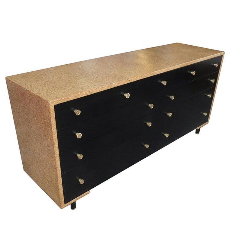 Mid-Century Modern Paul Frankl Cork Bedroom Set for Johnson Furniture For Sale