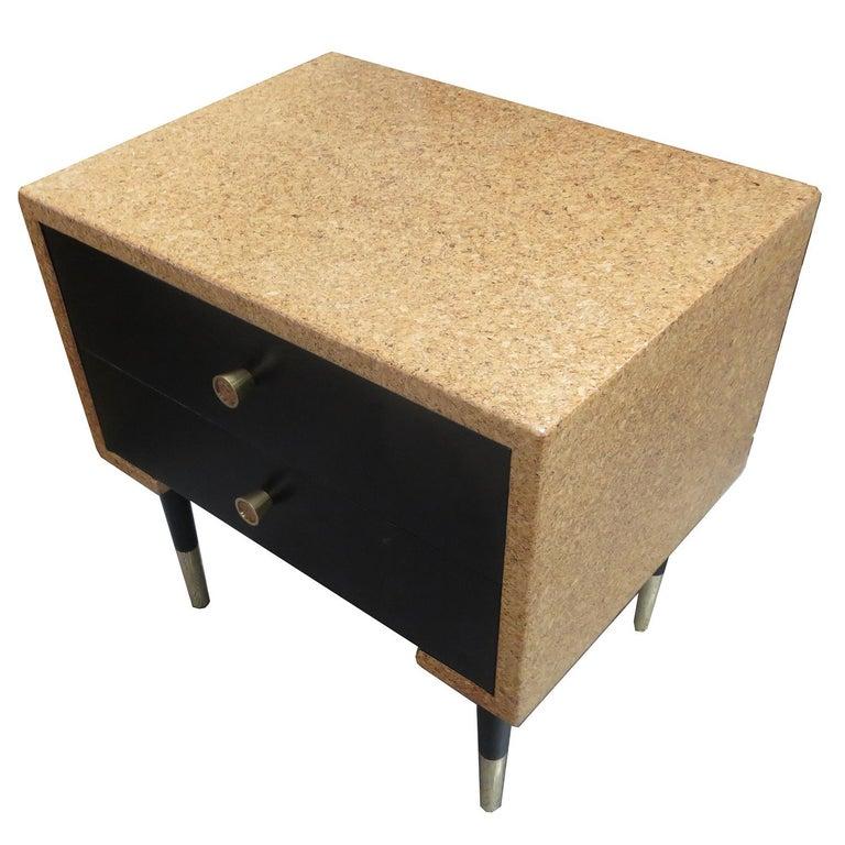 Ebonized Paul Frankl Cork Bedroom Set for Johnson Furniture For Sale