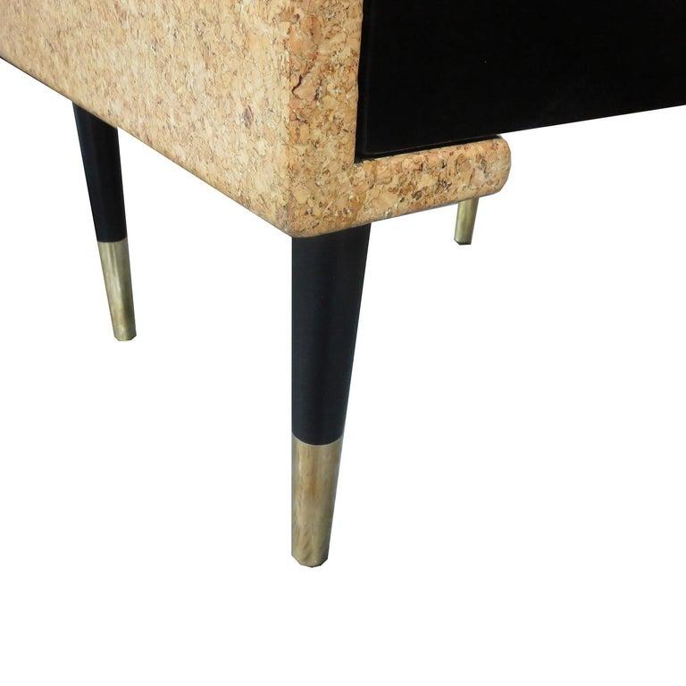 Brass Paul Frankl Cork Bedroom Set for Johnson Furniture For Sale