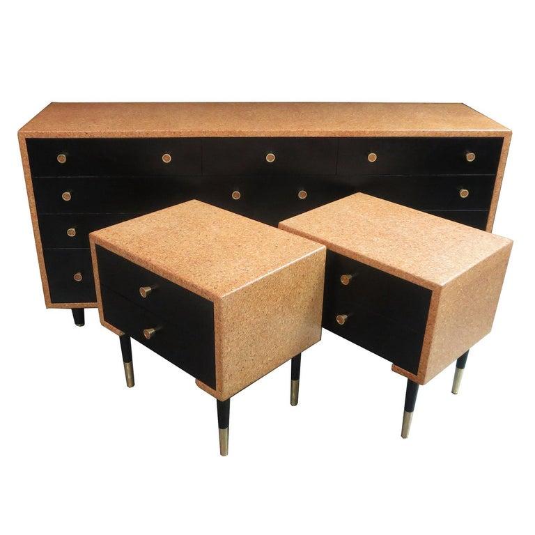 Paul Frankl Cork Bedroom Set for Johnson Furniture For Sale