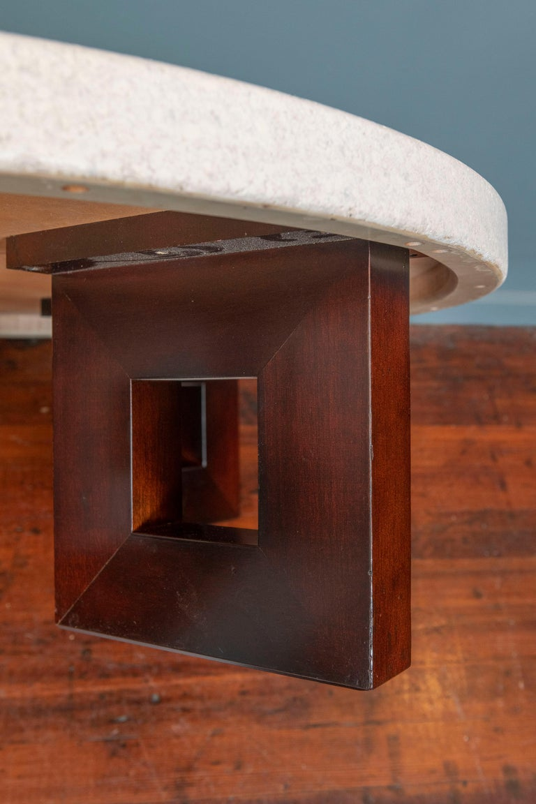 Mid-20th Century Paul Frankl Cork Coffee Table For Sale