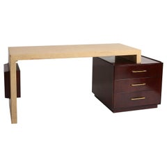 Paul Frankl Desk with Adjustable Cork Surface for Johnson Furniture, 1950s