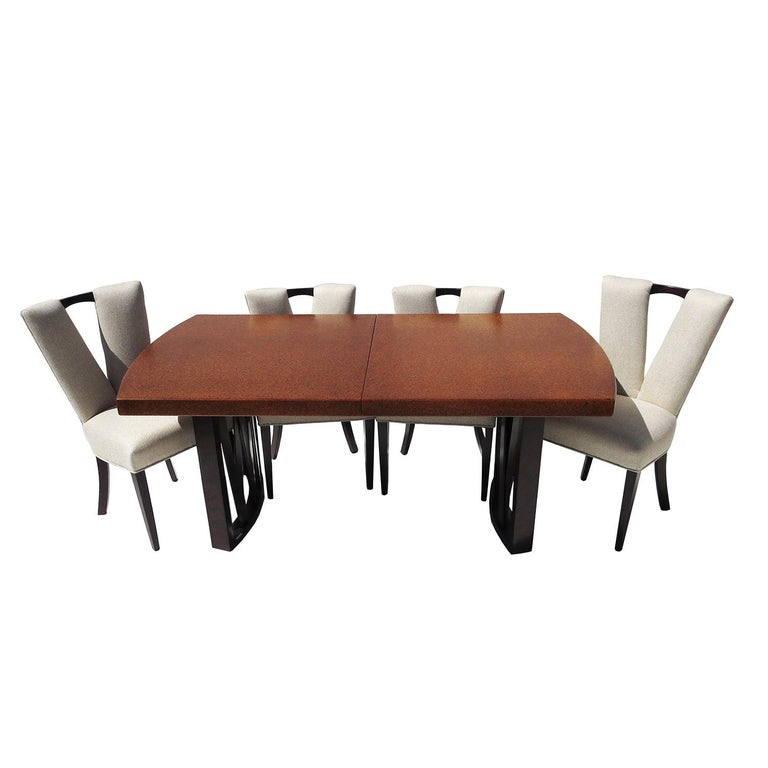 dining room furniture cork | Paul Frankl Cork Dining Table with Six Chairs for Johnson ...