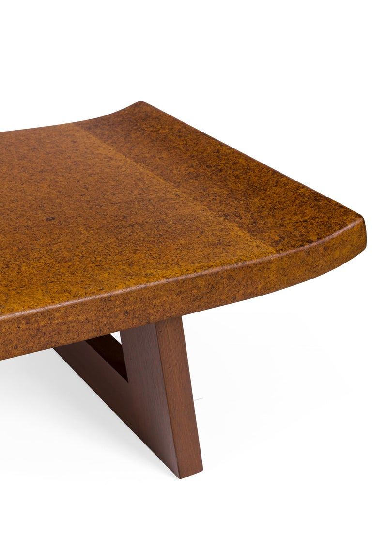 Paul Frankl Cork and Mahogany Coffee Table for Johnson Furniture, USA, 1950s In Good Condition In New York, NY