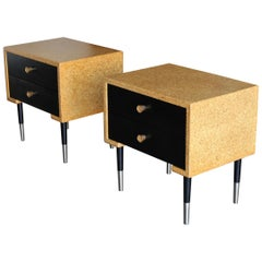 Paul Frankl Cork Nightstands for Johnson Furniture, circa 1955