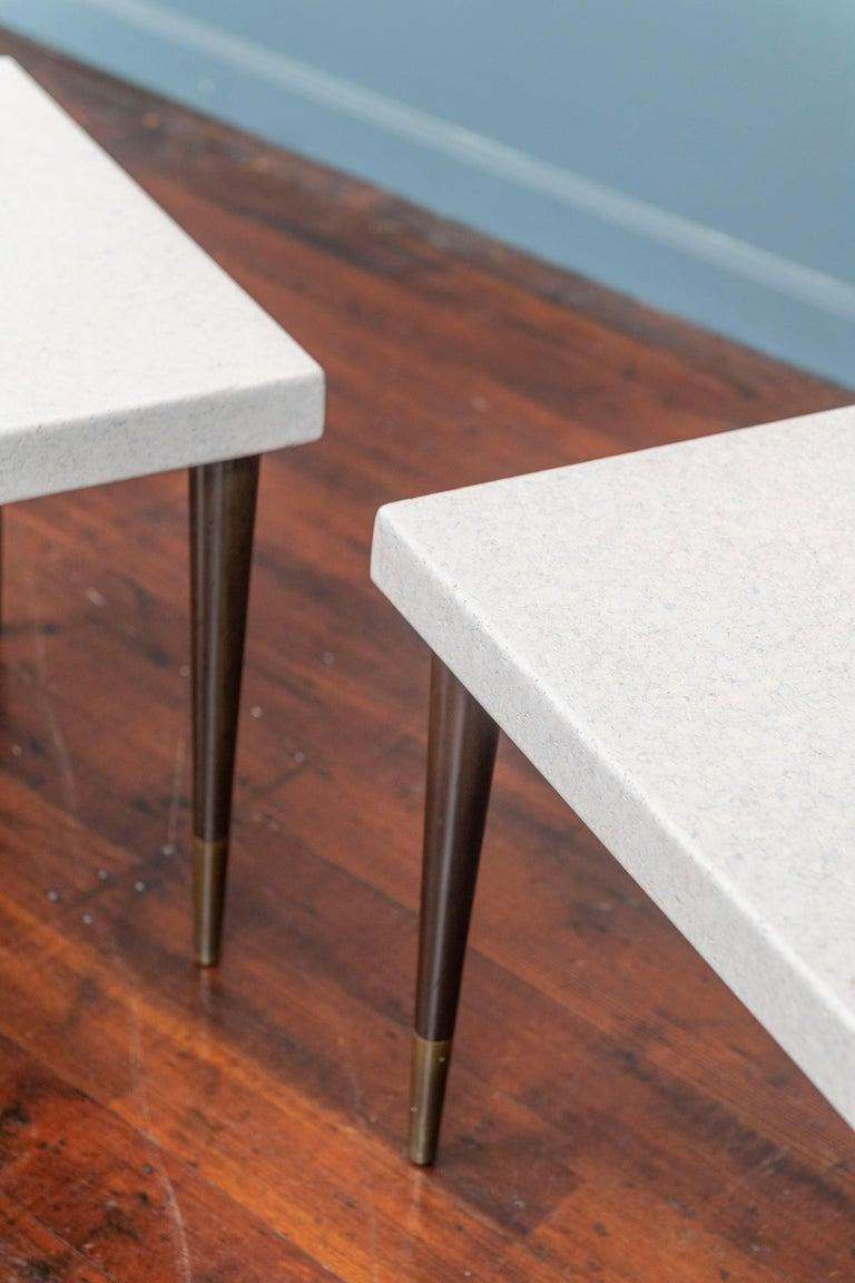 Mid-Century Modern Paul Frankl Cork Side Tables For Sale