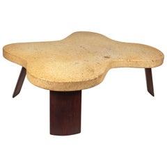 Paul Frankl Cork Top Amoeba Coffee Table for Johnson Furniture